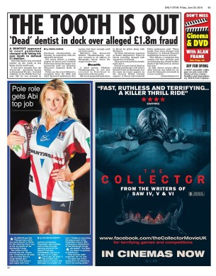 Abi Titmus, in Up 'n' Under, in the Daily Star newspaper