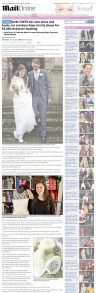 Lydia Pears (nŽe Tayler), 26, knitted her own wedding dress - Daily Mail Online - July 2012