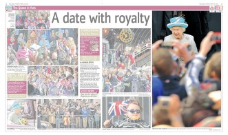 The Queen, on the day of taking Maundy Service in York in The Press newspaper