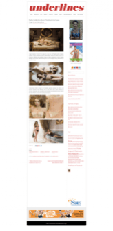 Christina Forte lingerie collection in Underlines magazine