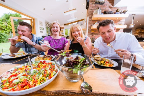 Guests enjoying their main course at the Kitchen Social