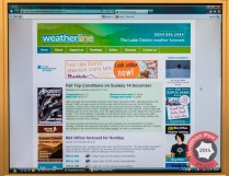 The report seen live on the Weatherline website
