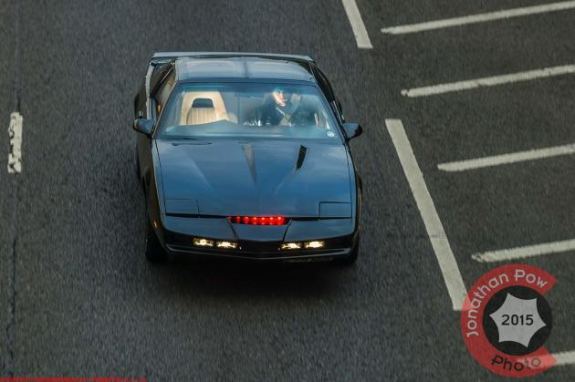 Kitt Knightrider car recreated by fan Scott Bainbridge - Picture date Sunday 28 September, 2014 (Murton, Tyne and Wear) Photo credit should read: Jonathan Pow/jp@jonathanpow.com REF : POW_140928_7565