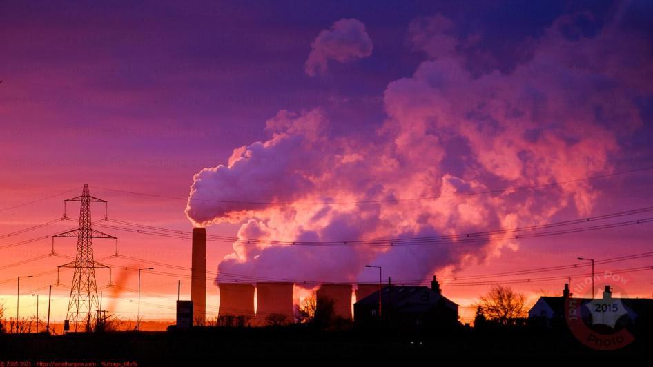 SSE Fiddler's Ferry Power Station at Sunrise