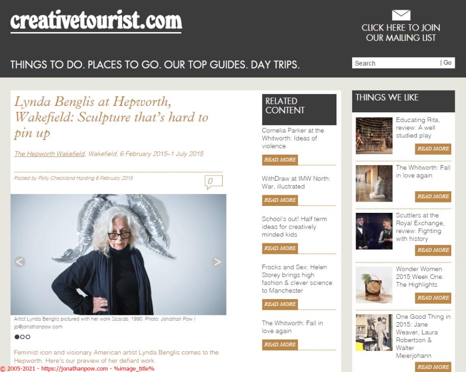Lynda Benglis - Hepworth Wakefield - Creative Tourist