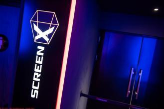 Screen X branding at Cinewold Leeds
