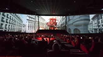 Cineworld at White Rose Shopping Centre, Leeds, unveiling the revolutionary new ScreenX (a 270 degree cinema screen - giving viewers a more immersive cinema experience)