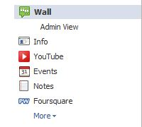 New facebook tab view