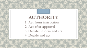 The Four Levels of Authority