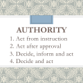 Four Levels of Authority