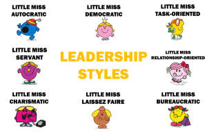 Summary of Leadership Styles