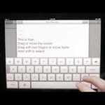 Concept video for ipad text editing
