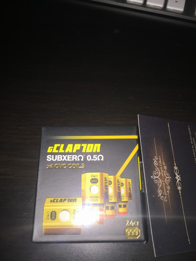 Atom Gold plated clapton coils