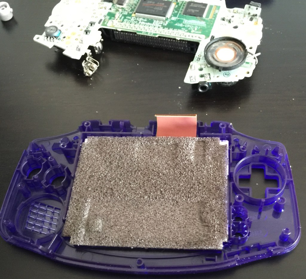 Gameboy Advance case shell change