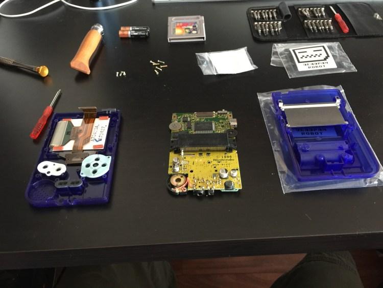 Gameboy Pocket case mod screen removed