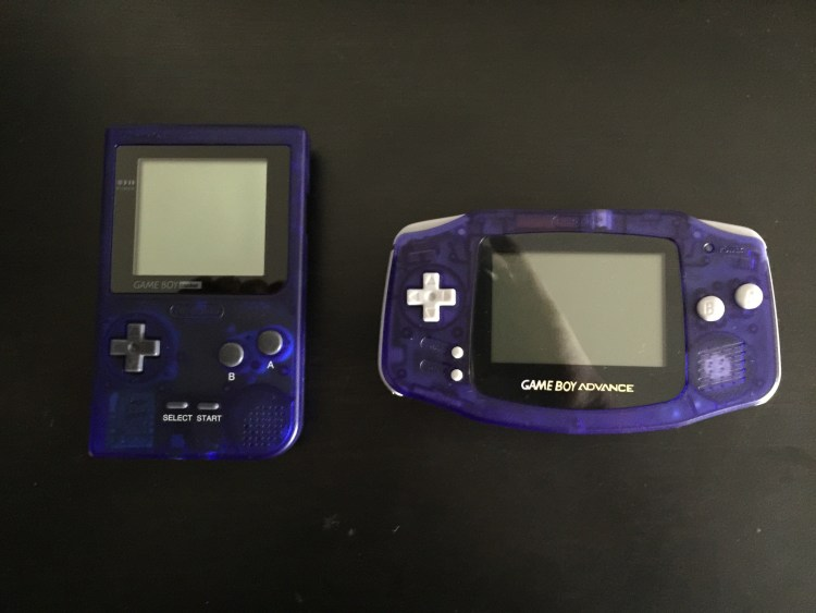 Gameboy Pocket assembled and glass screen installed