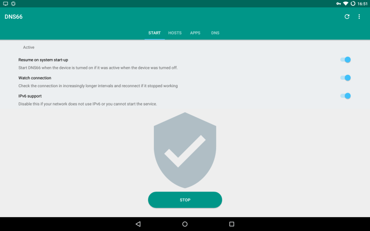 Ad blocking on android using dns666