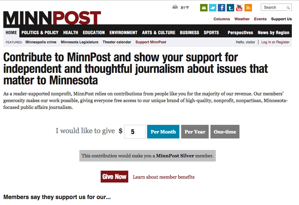 MinnPost Support