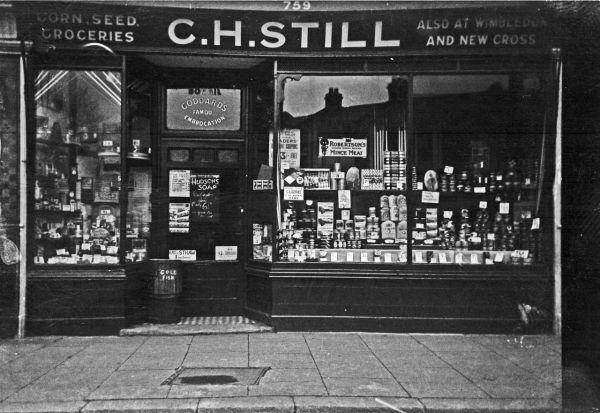 My grandfather's cornchandler's shop in Garratt lane, a bit of Tooting history