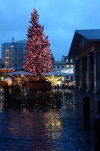 Covent Garden today. Just where you don't want to be two days before Christmas.