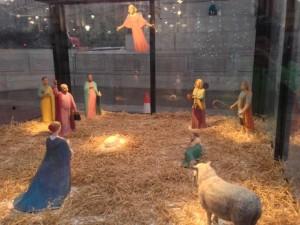 "Nativity scene in Trafalgar Square, illustration to ""Christmas carols for ballet class"""