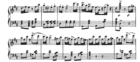 """Variation from the ballet in Donizetti's """"La Favorite,"""" useful for 2/4 sissonne exercises"""