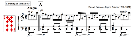 Image of sheet music for petit allegro by Auber