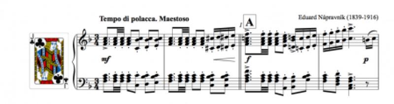 Screenshot of the polonaise from Dubrovsky by Eduard Nápravník