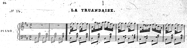 "The Scotch snap in Pugni's La Truandaise from his ballet ""La Esmeralda"""