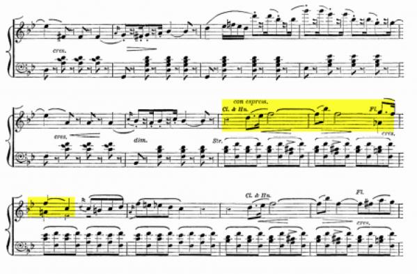 Screen shot of music by Meyerbeer