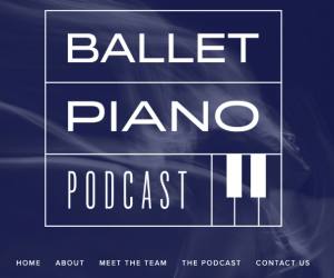 Screenshot of the Ballet Piano Podcast splashpage
