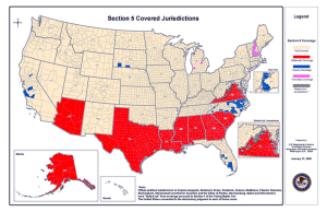 VRA section 5 coverage map