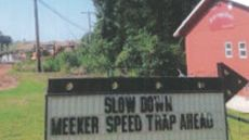 Speed Trap Warning Sign