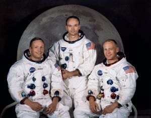 Apollo 11 Crew Left to Right: Neil Armstrong, Michael Collins, Buzz Aldrin