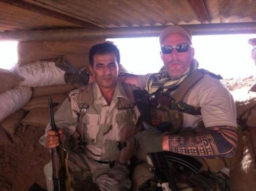 No Surrender member with Kurdish Fighter
