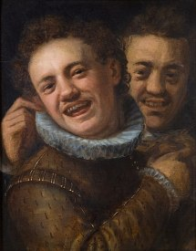391px-Hans_von_Aachen_-_Two_Laughing_Men_(Self-portrait)