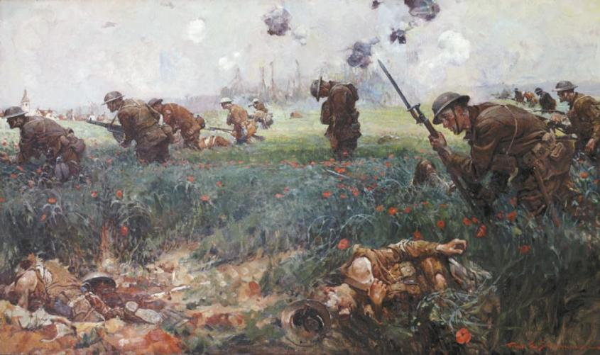 This_battle_scene_was_painted_in_1919_by_artist_Frank_Schoonover_of_the_Battle_of_Belleau_Wood