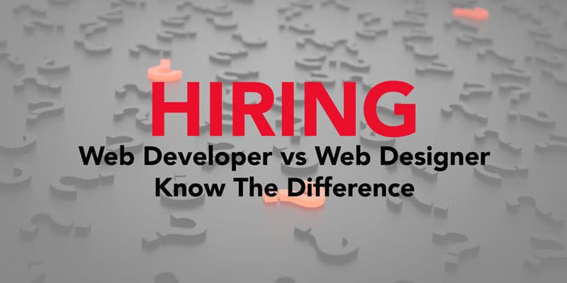 Hiring A Web Developer Vs Web Designer Blog Jonathon Harrelson