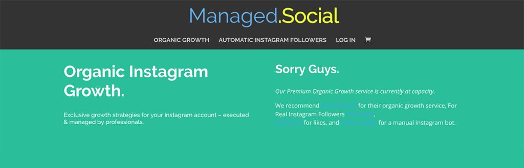 Managed Social - Instagram marketing & growth company
