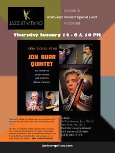 "Jon Burr Quintet ""Very Good Year"" at the Kitano @  |  |"
