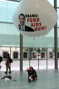 A balloon from the 2010 International AIDS Conference in Vienna. Obama has been praised for his HIV/AIDS policies. So why wouldn't he attend the first conference on U.S. soil in years?  Photo: Jon Cohen