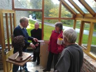 talking sculpture with the Glyn Joneses, Rolf Hook and visiting Elan Valley friend Nick
