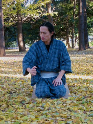 In rakugo, one actor sits on stage and plays every part, often switching between them quickly in conversation.