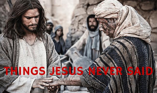 Things Jesus Never Said On Twitter