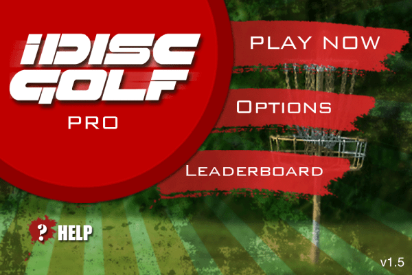 iDisc Golf Pro Main Menu
