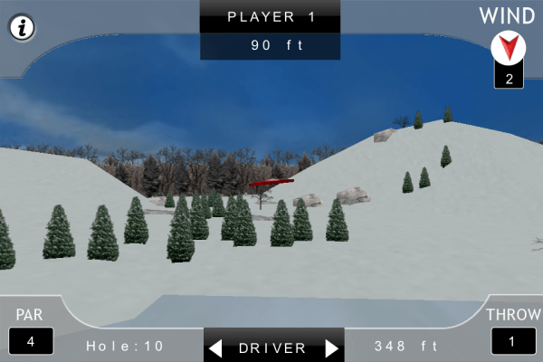 screenshot from iDisc Golf Pro