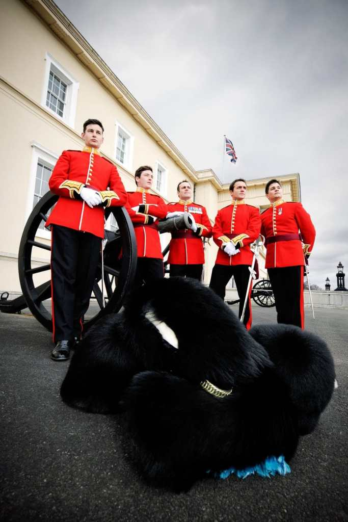 Soldiers in dress uniform at RMA Sandhurst