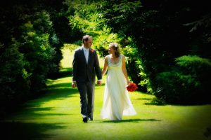 Couple walking at Gorse Hill