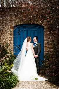 Wedding in the gardens at Farnham Castle