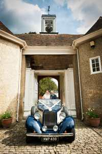 Classic wedding car at The Gate House